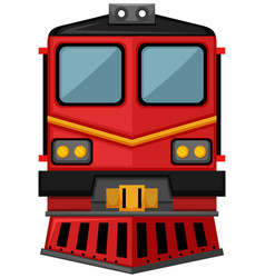 train design in red color vector image