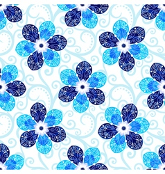 Repeating white floral pattern vector image