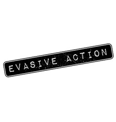 Evasive action rubber stamp vector