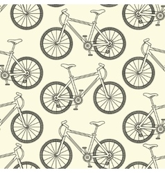 Seamless pattern with racing bikes vector