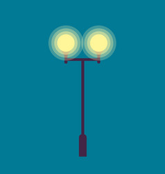 Isolated street lamp evening bright illumination vector