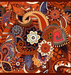 colorful paisley seamless pattern original vector image