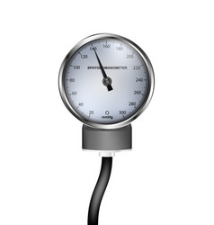 Medical realistic sphygmomanometer vector