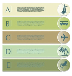 Travel infographics options banner vector