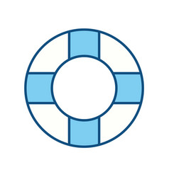 Lifebelt symbol to maritime rescue and protection vector