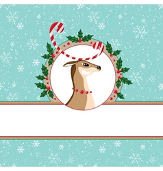 Candy deer card vector