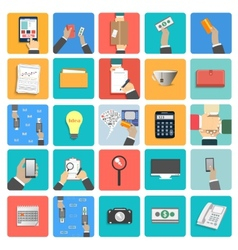 Business work elements vector