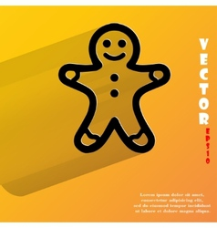 Gingerbread flat modern web button with long vector