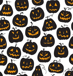 Pattern with pumpkins halloween holiday seamless vector