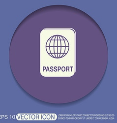 International passport symbol of travel icon vector