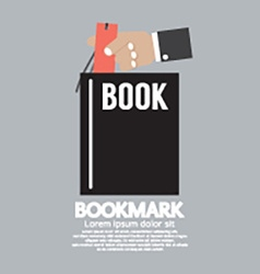 Book with bookmark in hand vector