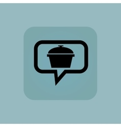 Pale blue pot message icon vector