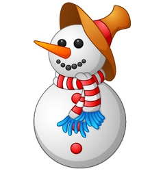 Snow man cartoon vector