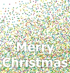 Merry christmas lettering on colorful confetti vector