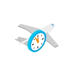 Flight time 3d isometric icon vector