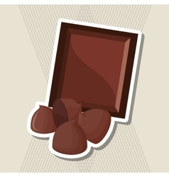Flat about chocolate design  sweet vector