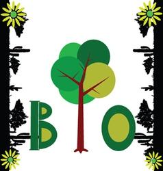 bio nature art vector image vector image