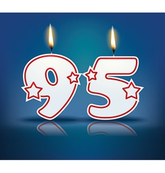 Birthday candle number 95 vector image