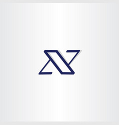 blue x logotype icon letter vector image