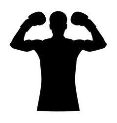 Boxer the black color icon vector