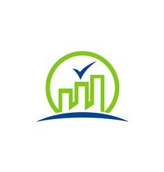 building city factory green logo vector image