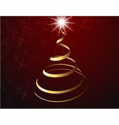 Christmas tree strip vector image