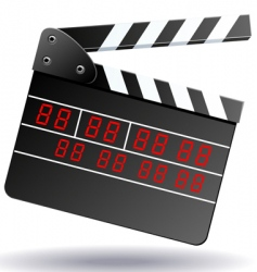 clapboard vector image vector image