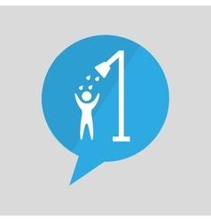 icon shower water symbol design vector image