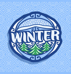 Logo for winter season vector