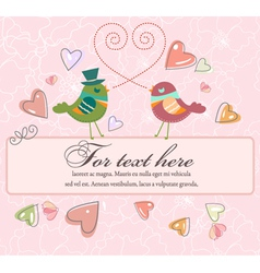 love birds with frame vector image