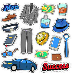 men success accessories and clothes set vector image vector image