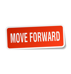 move forward square sticker on white vector image vector image