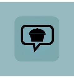 Pale blue pot message icon vector image vector image