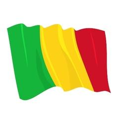 political waving flag of mali vector image