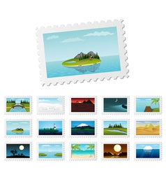 post stamps vector image vector image