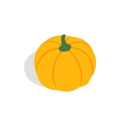 Pumpkin icon isometric 3d style vector image vector image