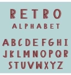 Retro embroidered alphabet font vector