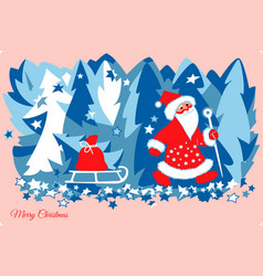 Santa claus with gifts vector
