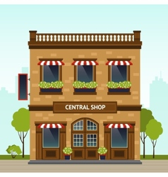 Shop facade vector