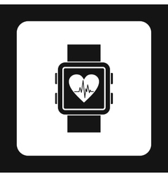 Smartwatch icon in simple style vector image vector image