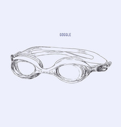 swimming goggles vector image