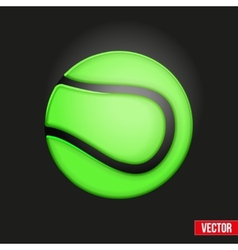 Symbol soft tennis ball vector image vector image