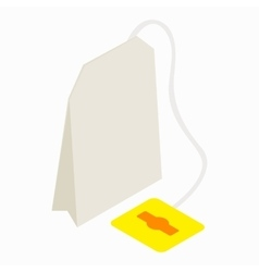 Teabag icon isometric 3d style vector