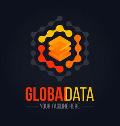 technology data server logo vector image