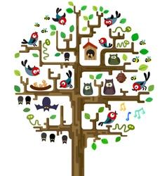 Tree with inhabitants vector