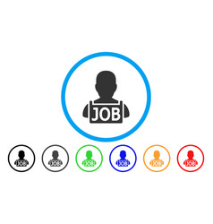 Unemployed rounded icon vector