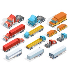 Vehicle Isometric Collection vector image vector image