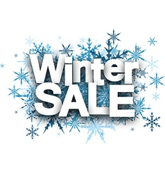 Winter sale background with snowflakes vector