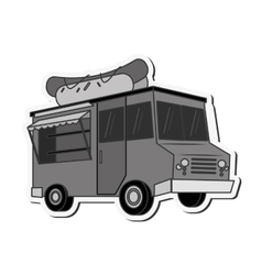 Food truck delivery design vector