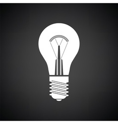 Electric bulb icon vector